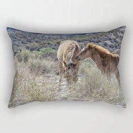 Salt River Mare and Her Colt, No. 1 Rectangular Pillow