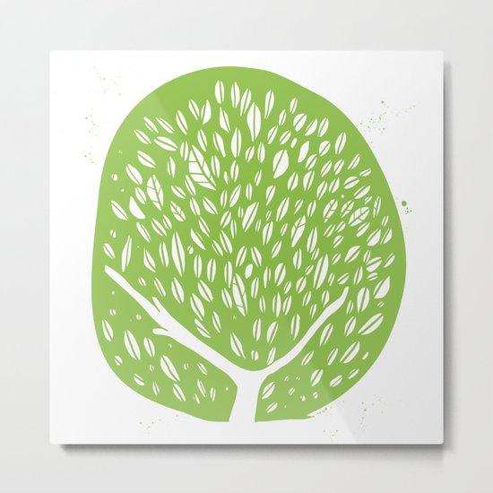 Tree of life - pea green Metal Print