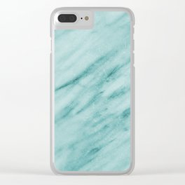 Audace Turchese green marble Clear iPhone Case