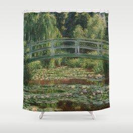 Claude Monet - Japanese Footbridge Shower Curtain