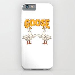 Cute & Funny Goose Bumps Goosebumps Animal Pun iPhone Case
