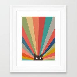 Cat Landscape 48 Framed Art Print