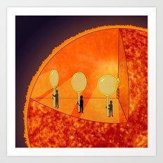 Inner Workings of the Sun Art Print