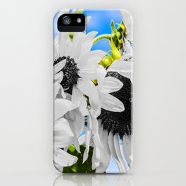 Stripped of color sunflowers iPhone Case