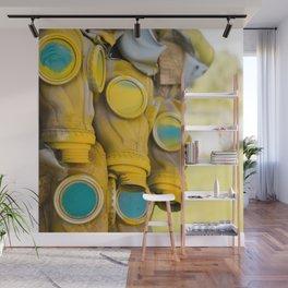 Yellow gas mask Wall Mural