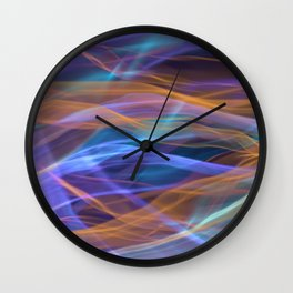 Abstract Shiny Night Lights 16 Wall Clock