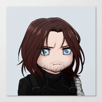 winter soldier Canvas Prints featuring Winter Soldier by Kuraven