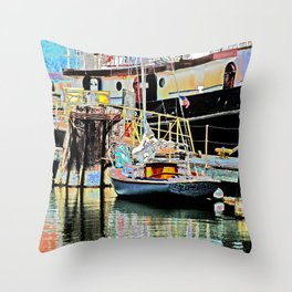 A Harbor view of Coos Bay Throw Pillow