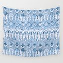 Tribal Owl Feathers in Delft Blue by thistleandfox