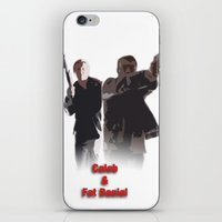 caleb troy iPhone & iPod Skins featuring Caleb and Fat Daniel by Body in the Window Seat