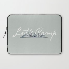 """Let's Camp"" camping in the mountains & dessert (sage) Laptop Sleeve"