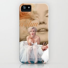 Marilyn Portrait Collage 3 iPhone Case