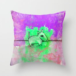 Dog No.1e by Kathy Morton Stanion Throw Pillow