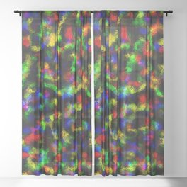 Abstract Disco Foil Sheer Curtain