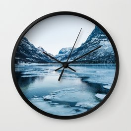 Winter in Innerdalen Wall Clock