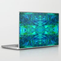 stained glass Laptop & iPad Skins featuring Stained-glass.  by Assiyam