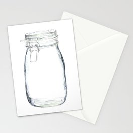 Glass Jar in Watercolor Stationery Cards