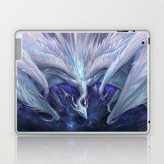 White Crystal Dragon Laptop & iPad Skin