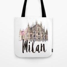 Milan watercolor Tote Bag