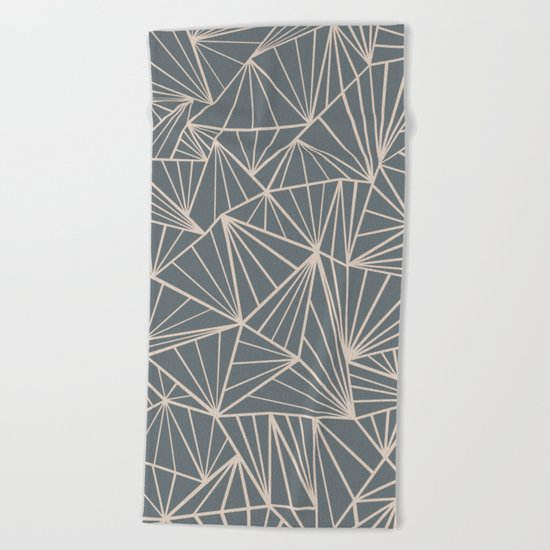 Ab Fan Grey And Nude Beach Towel