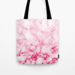 Red/Pink Marble Texture Pattern Tote Bag
