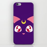 luna iPhone & iPod Skins featuring Luna by discojellyfish