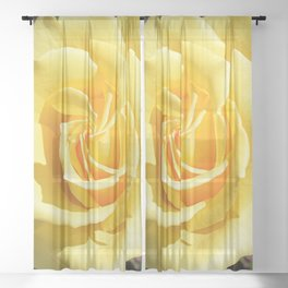Yellow Rose for Mommy Sheer Curtain