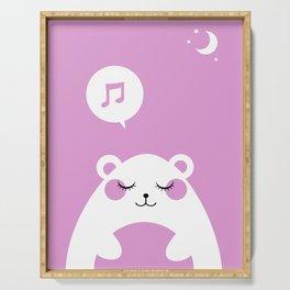 Sound Asleep Bear Serving Tray