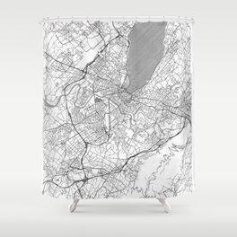 Geneva Map Line Shower Curtain