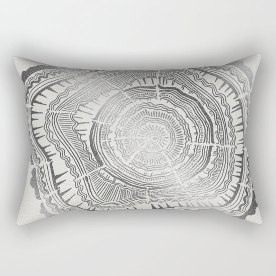 Growth Rings – 65 Years – Silver Rectangular Pillow