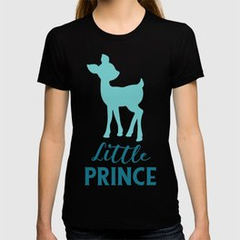 Little Prince, Baby Deer, Fawn - Blue T-shirt
