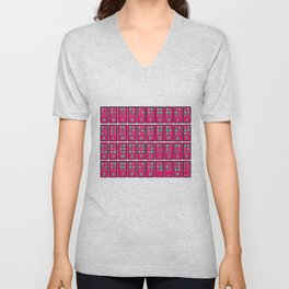 Braille Alphabet v6 Unisex V-Neck