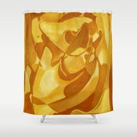 metropolis Shower Curtains featuring K9 Metropolis by jamieDarth