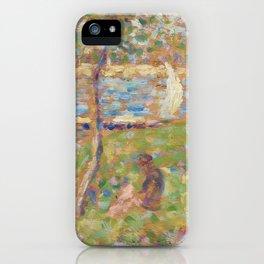 "Study for ""La Grande Jatte"" iPhone Case"