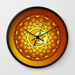 Sunset mandala Wall Clock