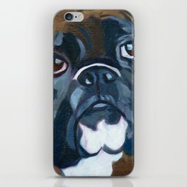 Boxer Lil E Dog Portrait iPhone Skin