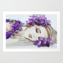 floral bugambilia woman Art Print