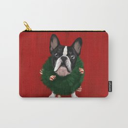 Christmas Bulldog Carry-All Pouch
