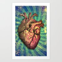 anatomical heart Art Prints featuring Anatomical heART by Li9z