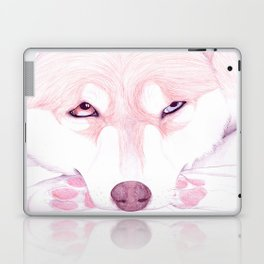 Red/White Husky Laptop & iPad Skin