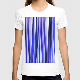 Peace and Harmony Blue Striped Abstract Pattern T-shirt