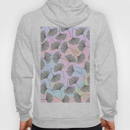 biloba on pastel pink and baby blue watercolor background Hoody