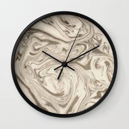 Marble Acrylic Art Grey Wall Clock
