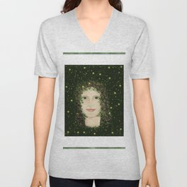 Self Portrait In Abstract Unisex V-Neck