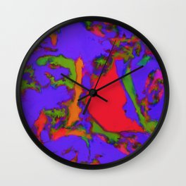 Little red lake Wall Clock
