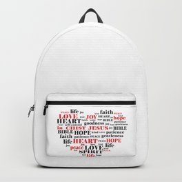 fruit of the spirit,Galatians 5:22-23,Christian Bible Verse Quote Backpack