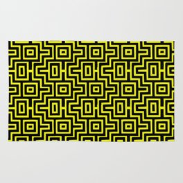 Yellow Buzz Puzzle Choctaw Pattern Rug