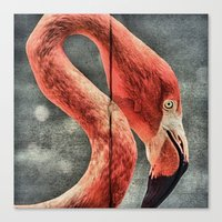 literature Canvas Prints featuring Flamingo in Literature by Mandy Tabatt