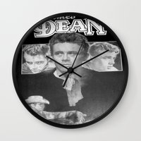 50s Wall Clocks featuring  Dean Poster (Circa mid 50s) by Chris' Landscape Images & Designs