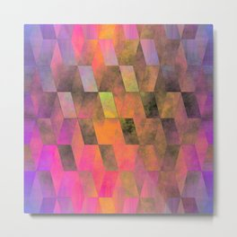 Stacked Sky (magenta-coral-ochre) Metal Print